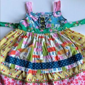 Matilda Jane | Multi Print Apron Knot Dress | 4